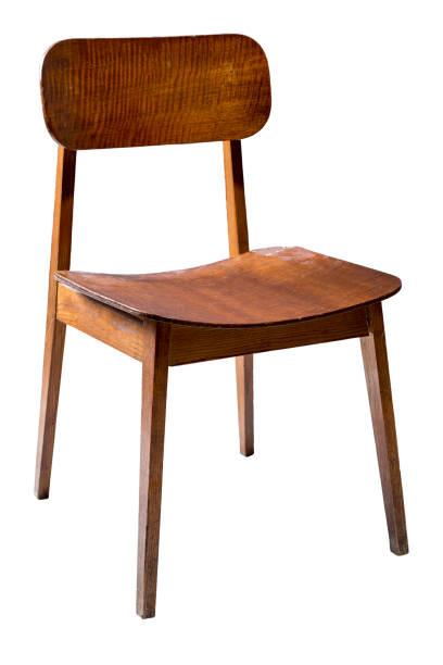 retro vintage drewniane krzesło izolowane na białym, w tym ścieżki przycinania. - krzesło zdjęcia i obrazy z banku zdjęć