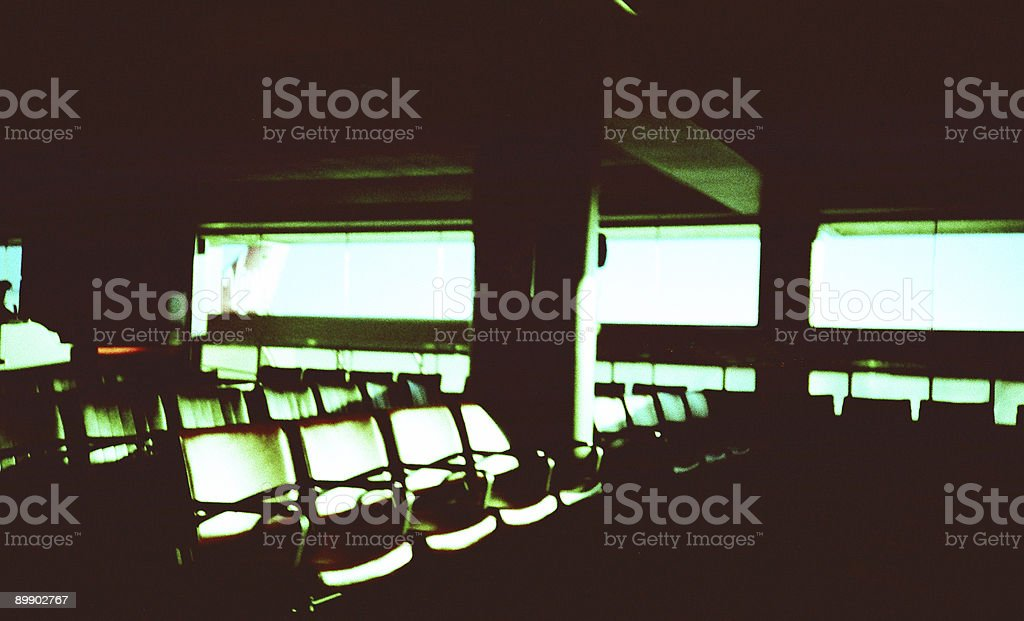 LOMO retro waiting room stock photo