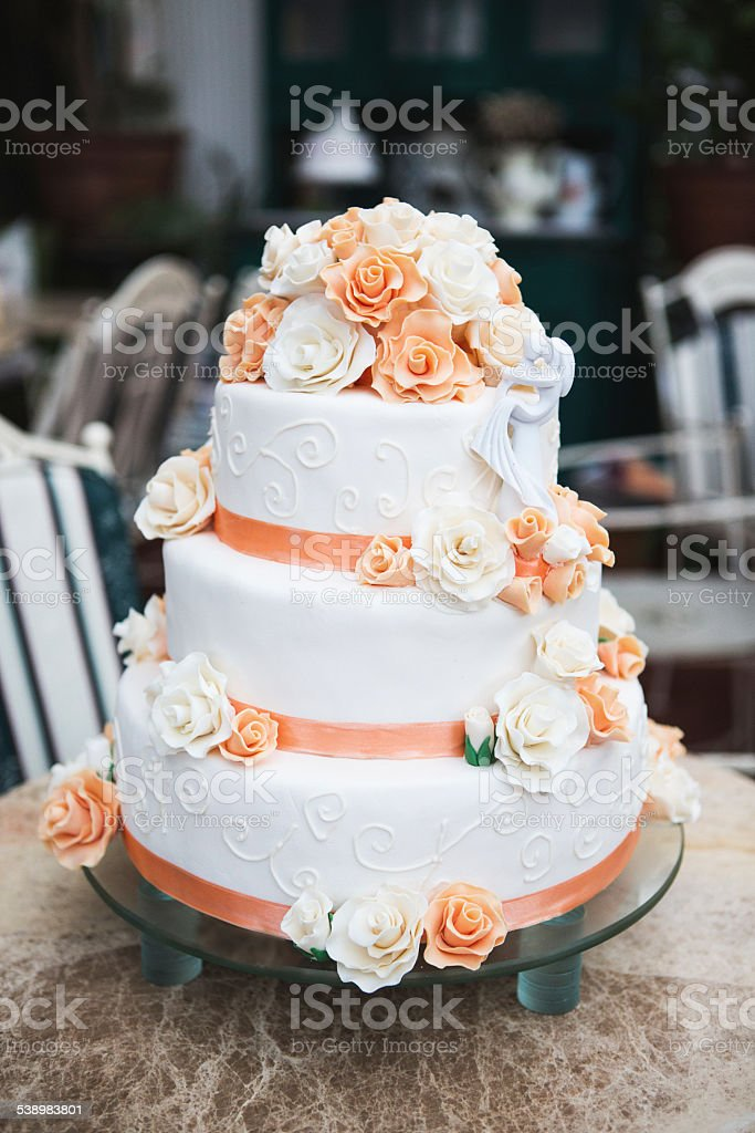 Retro Wedding Cake Royalty Free Stock Photo