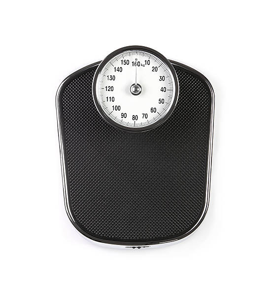 Retro weight scale stock photo
