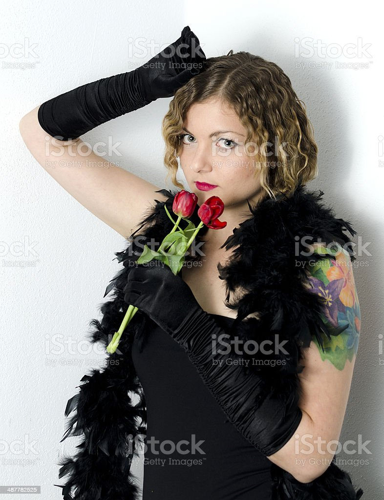Retro Woman 1920s - 1930s The Charleston royalty-free stock photo