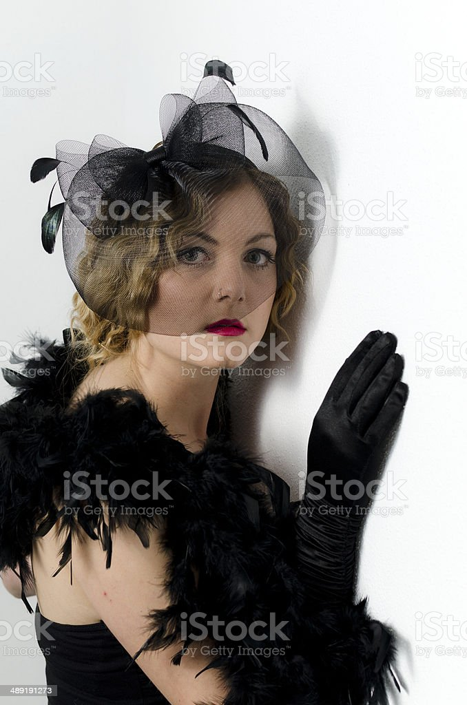 Retro Woman 1920s - 1930s The Charleston royalty-free stock photo