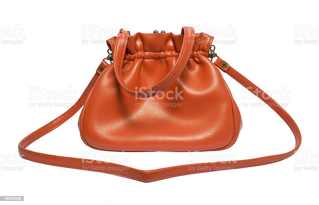 Retro woman bag royalty-free stock photo