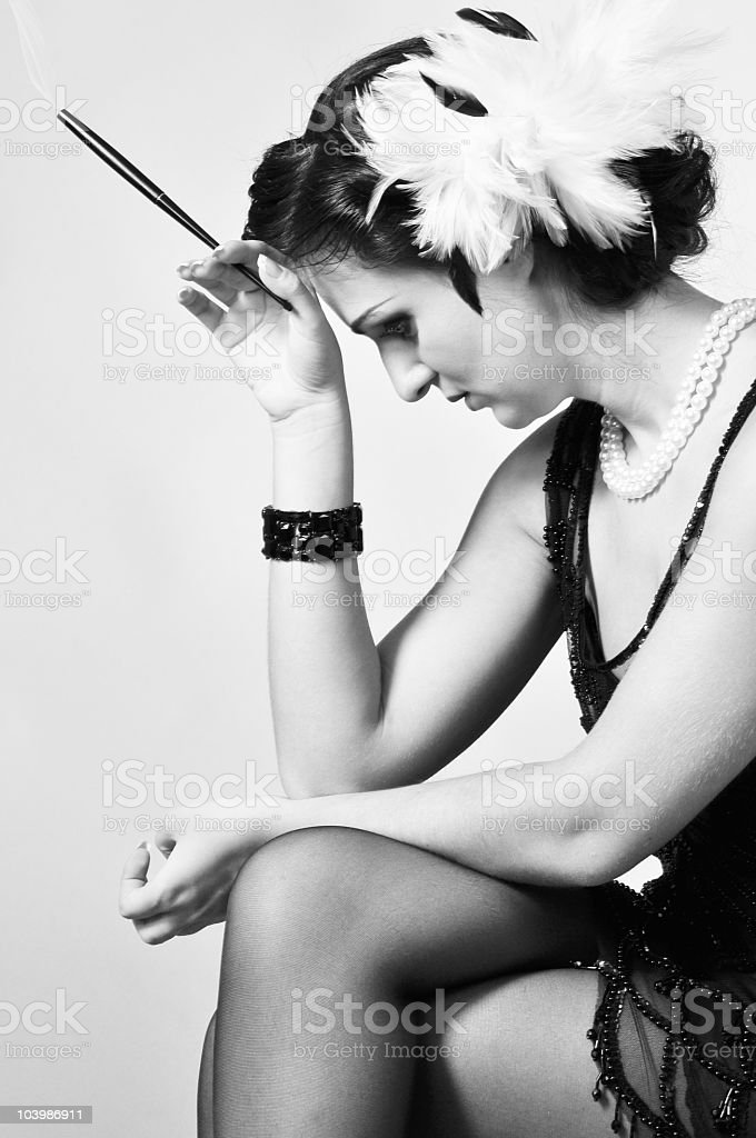 Retro woman (20s-50s) royalty-free stock photo