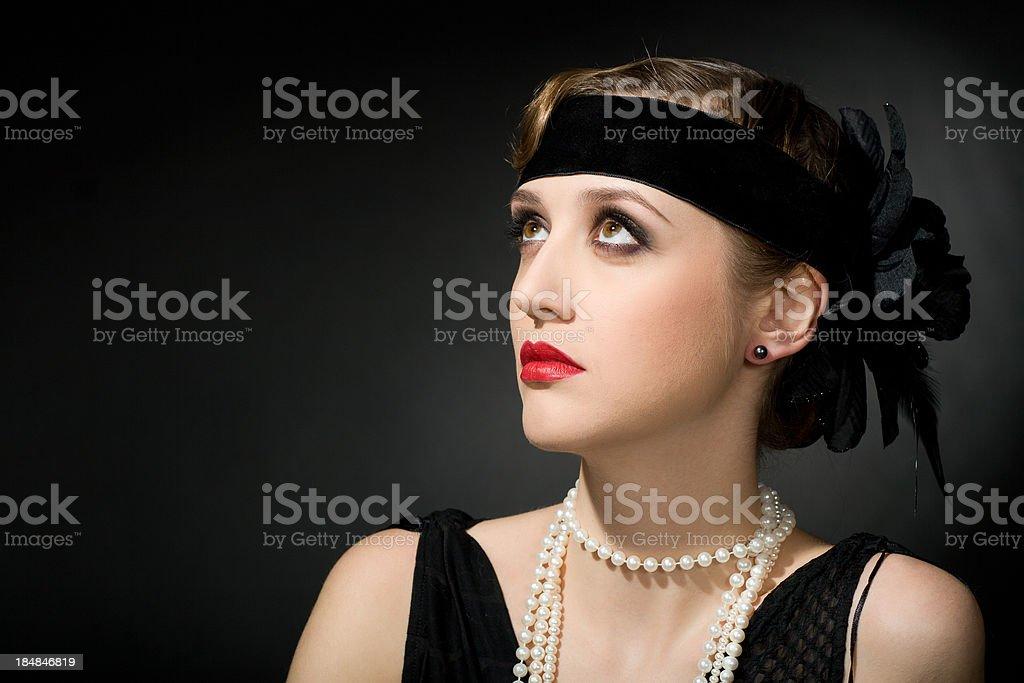 Retro Woman royalty-free stock photo