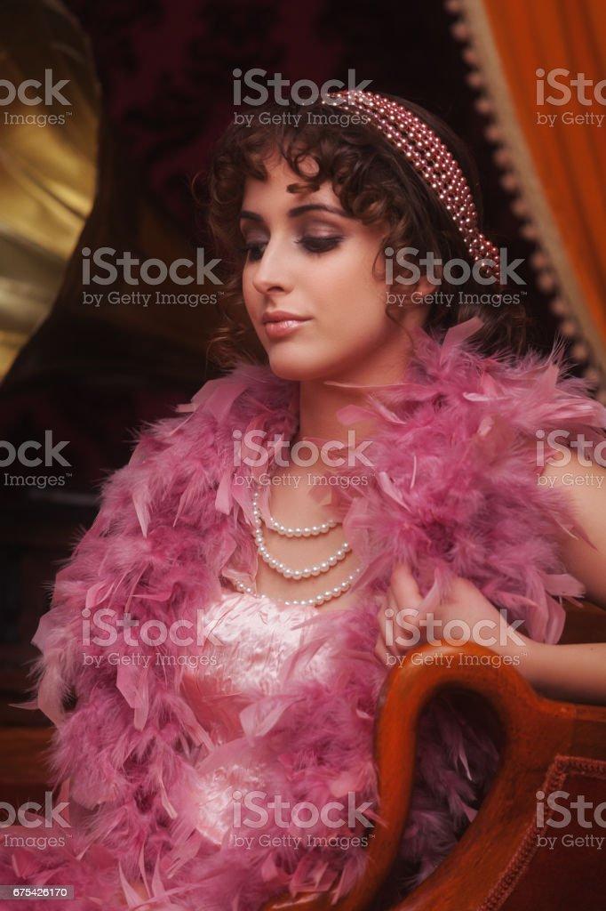 Retro kadın royalty-free stock photo