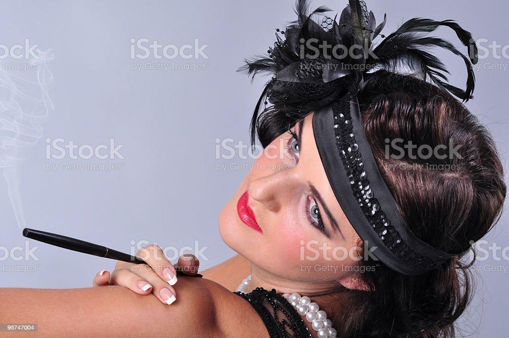 Retro woman (20s-50s) royalty-free stock photo