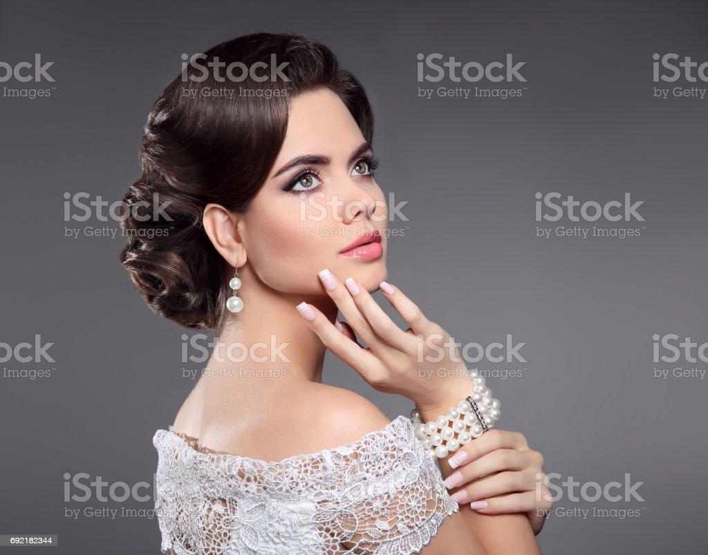 Fotografia De Retrato De Mujer Retro Elegante Senora Con Peinado
