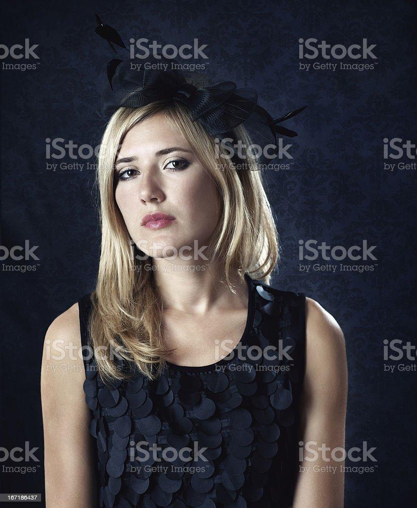 Retro Frau Porträt. Lizenzfreies stock-foto