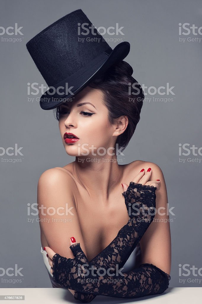 Retro Woman Portrait stock photo
