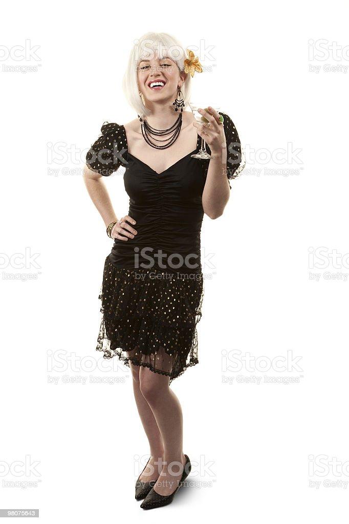 Retro woman with white hair royalty-free stock photo