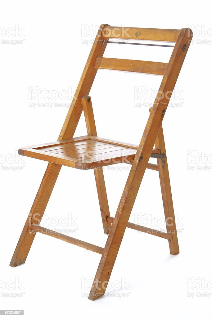Retro Wood Folding Chair royalty-free stock photo