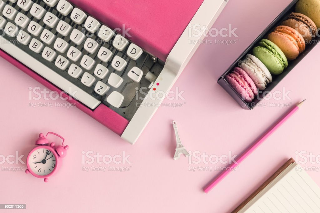 Retro Workplace With Symbols Of French Culture Stock Photo More