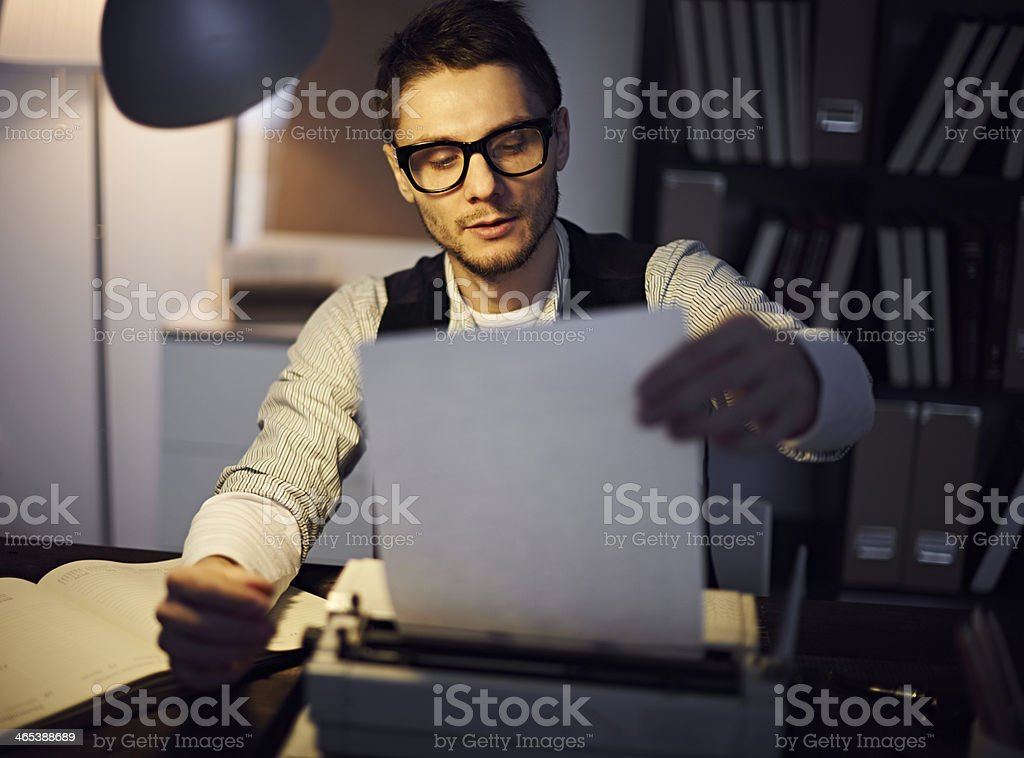 Retro writer stock photo