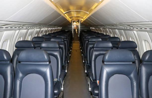 rétro/old avion cabine intérieure - avion supersonique concorde photos et images de collection