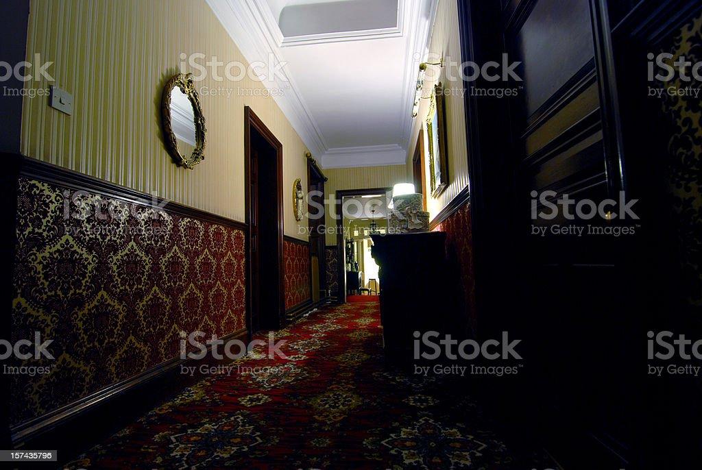 Retro-style scary hotel royalty-free stock photo