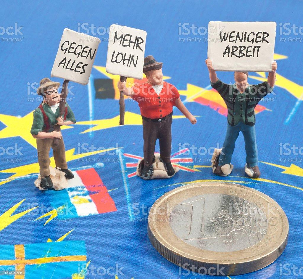 Rettet den Euro - Eurorettung stock photo