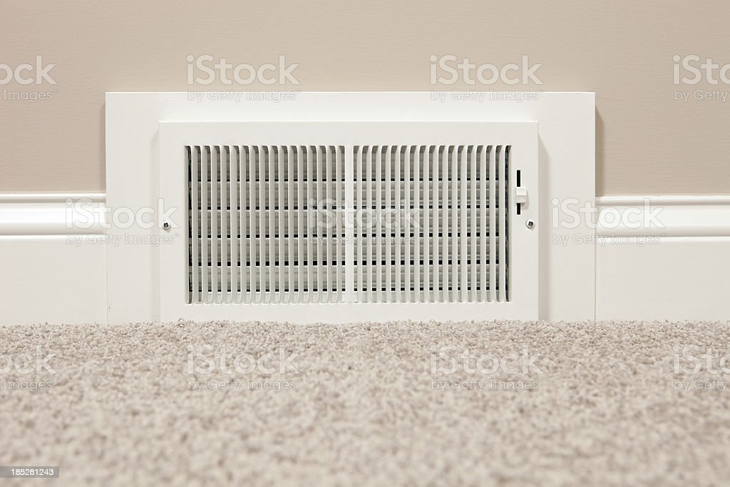 HVAC Return Air Wall Register Vent stock photo
