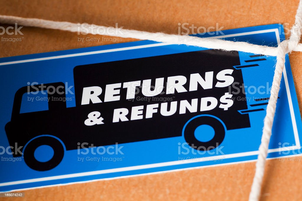 Return and Refund Package US Dollar royalty-free stock photo