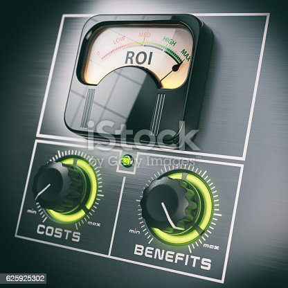 istock Return on Investment concept. ROI and benefits in the maximum 625925302