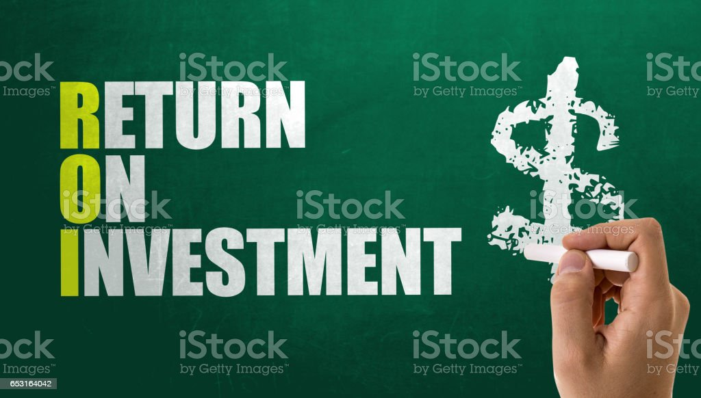 ROI - Return on Investment stock photo