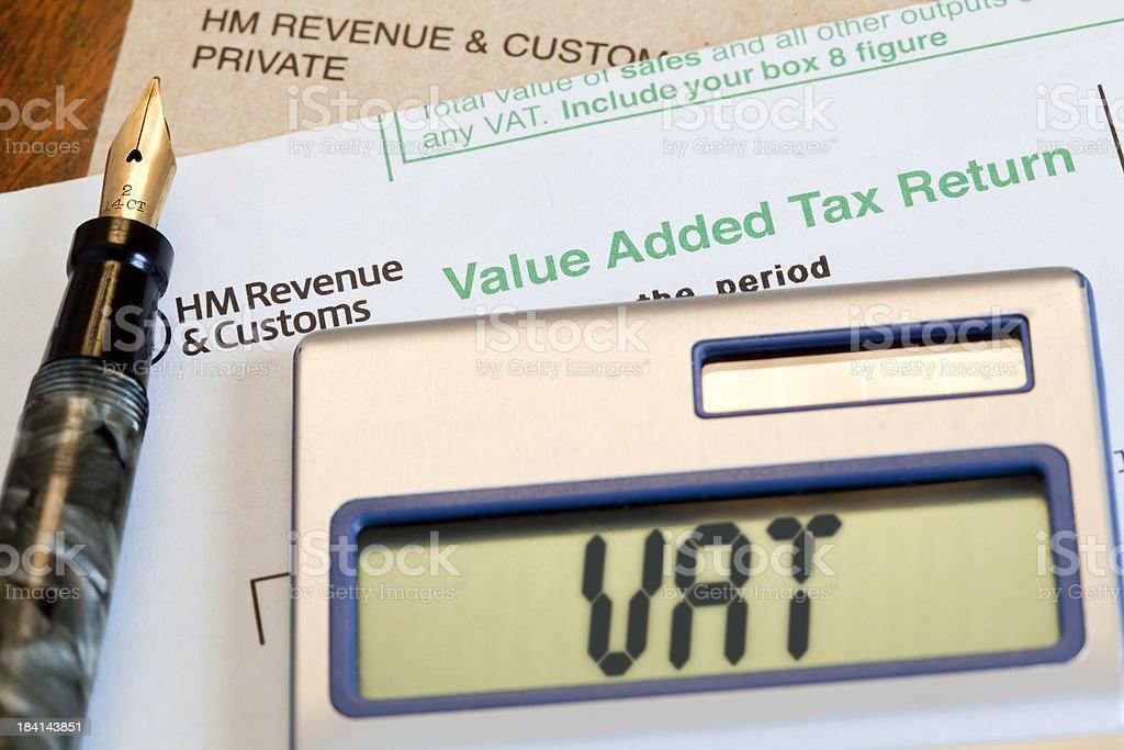 UK VAT Return stock photo