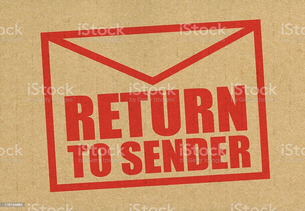 Return to sender mail royalty-free stock photo