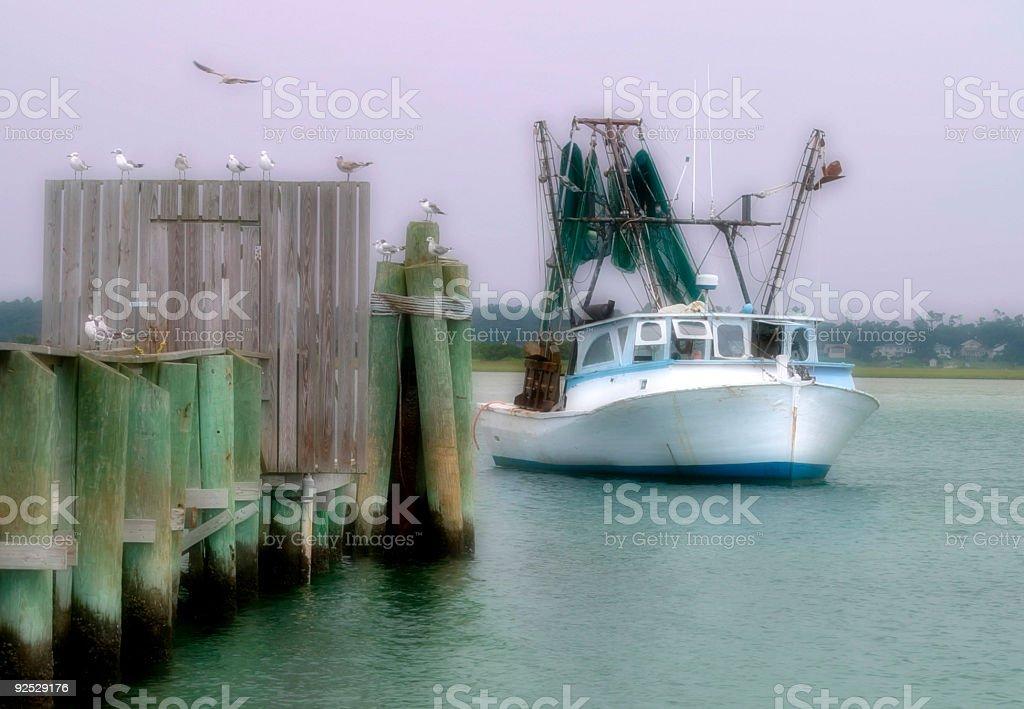 Returning Boat royalty-free stock photo