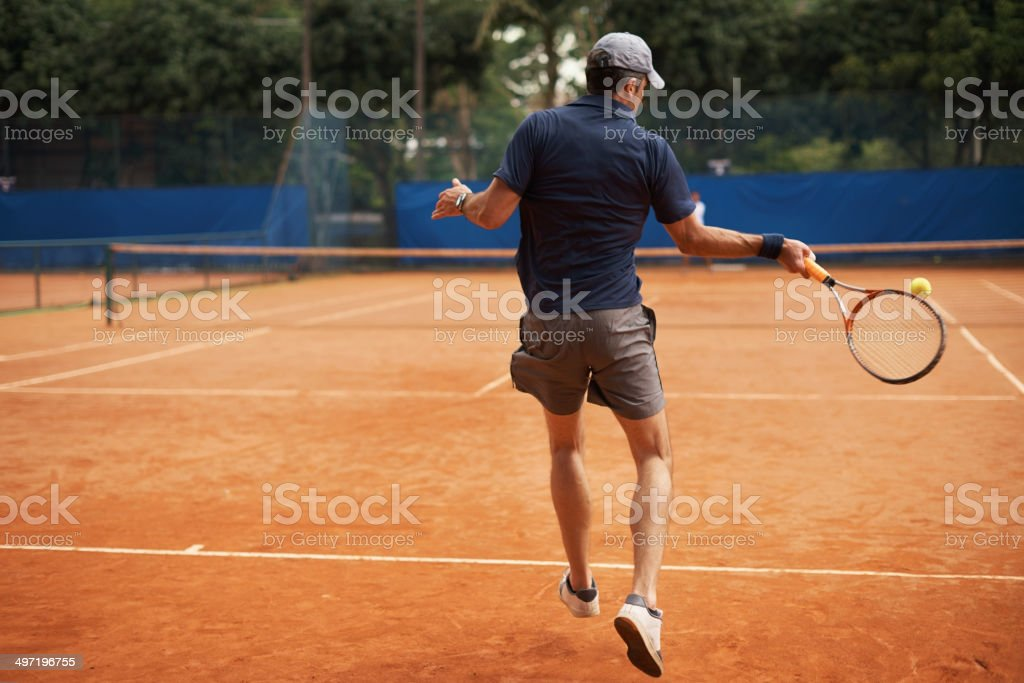 Returning even the fiercest serve royalty-free stock photo