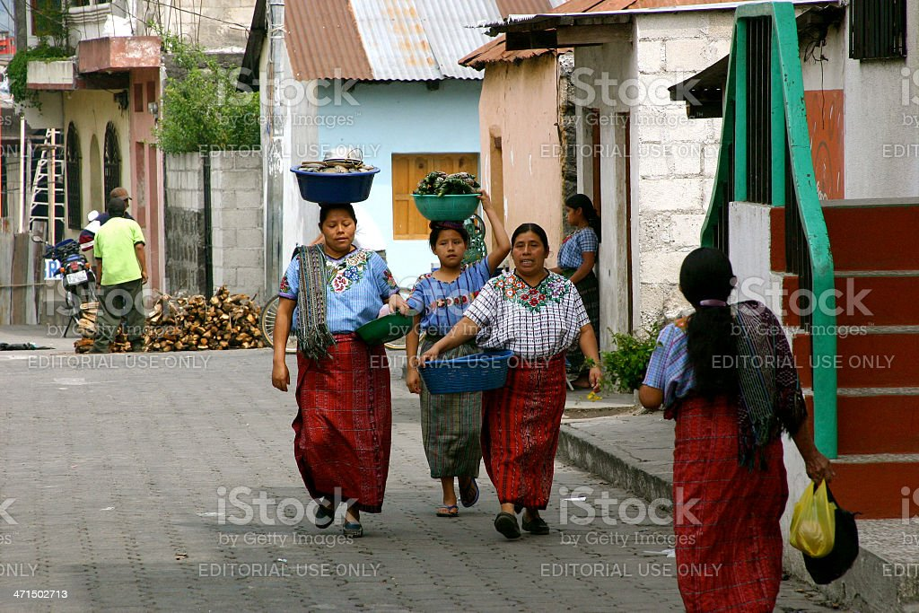 Returning from the Market royalty-free stock photo