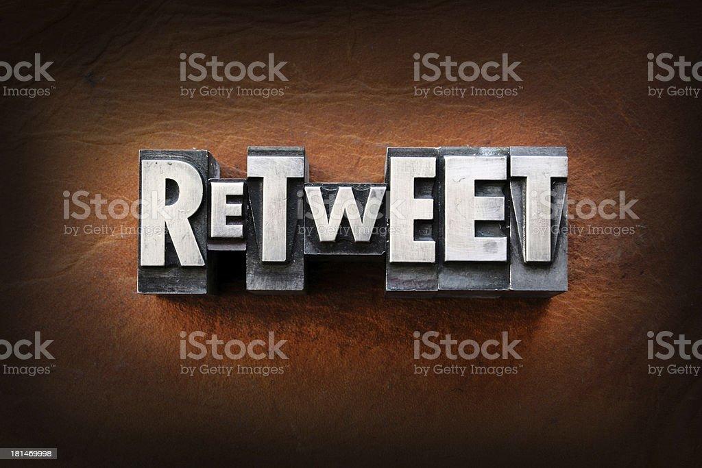 Retweet stock photo