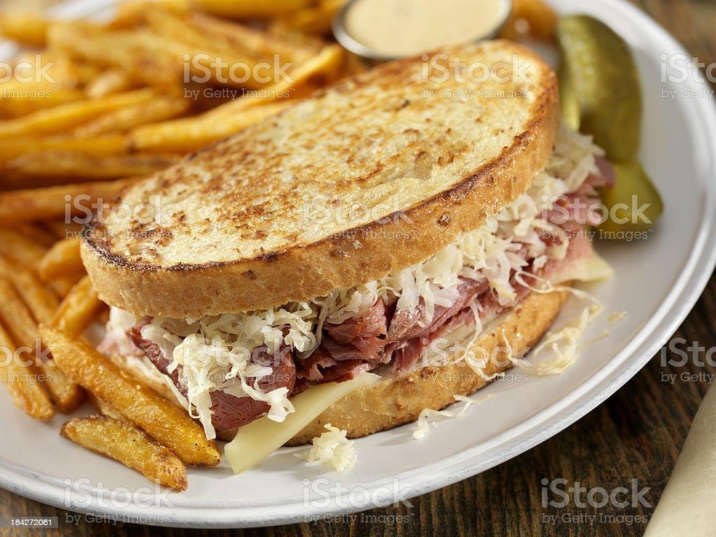 Reuben Sandwich royalty-free stock photo
