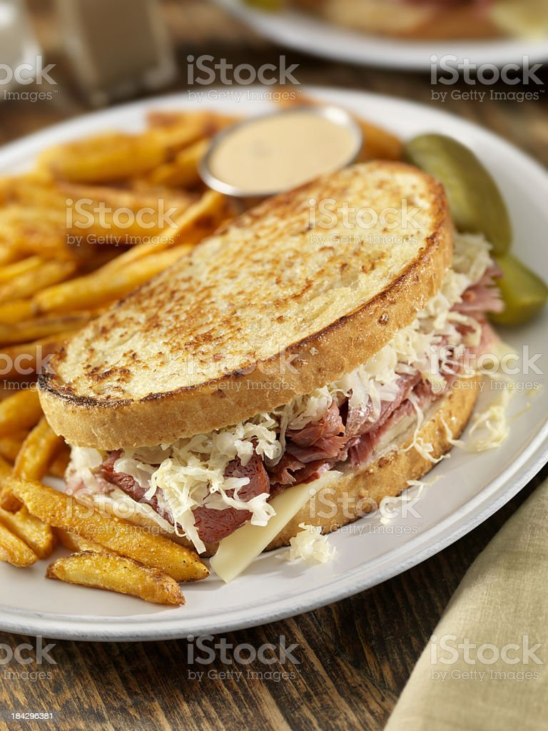 Reuben Sandwich royalty-free stock photo