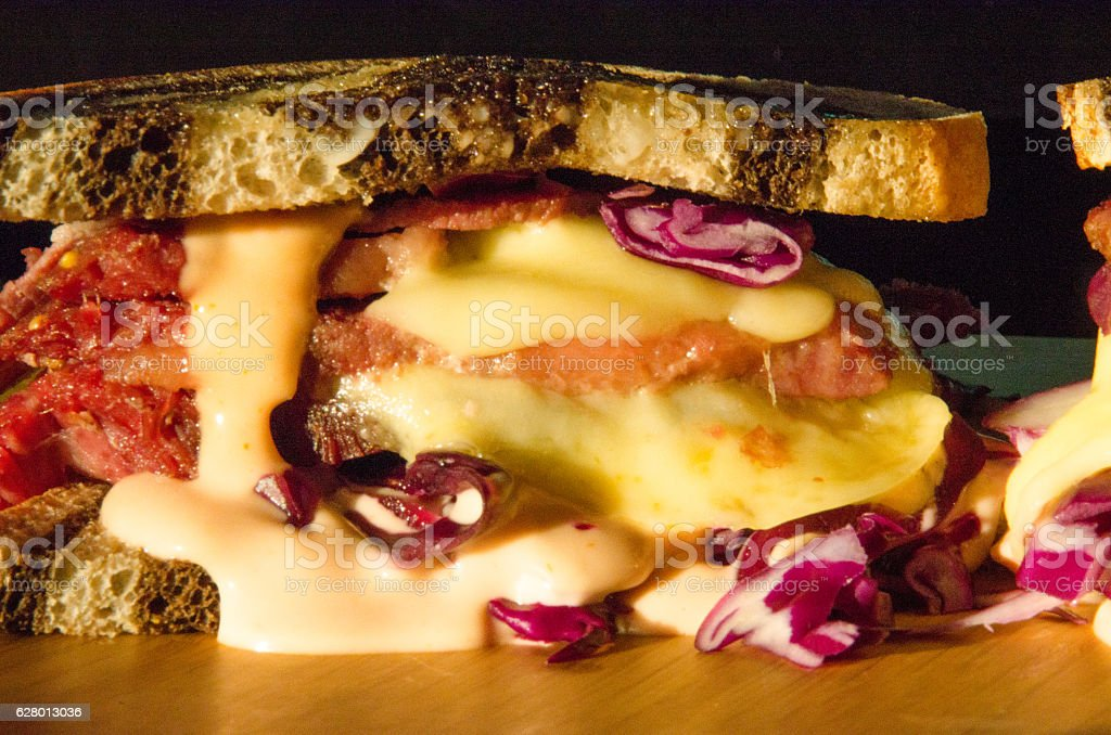 Reuben Sandwich stock photo