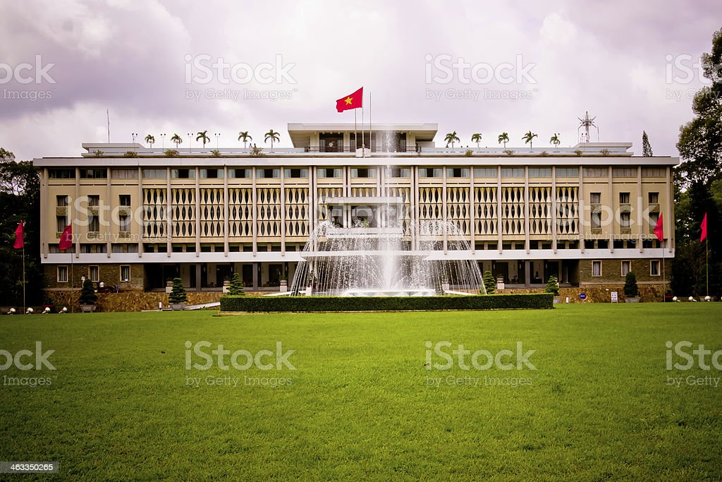 Reunification palace in Ho Chi Minh City stock photo