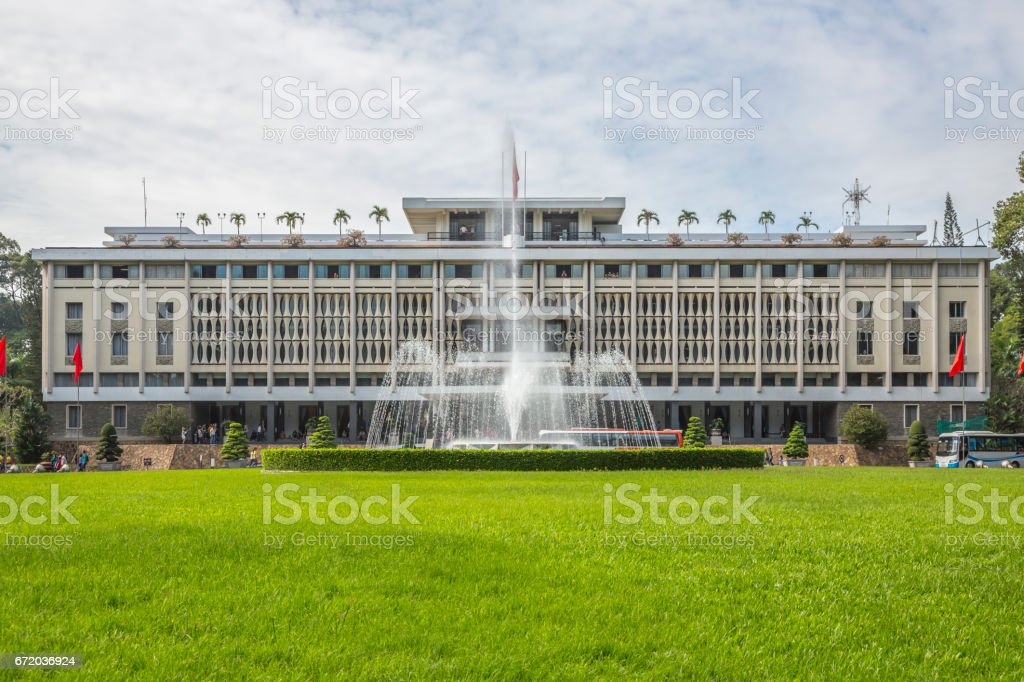 Reunification Palace (Independence Palace) in Ho Chi Minh City stock photo