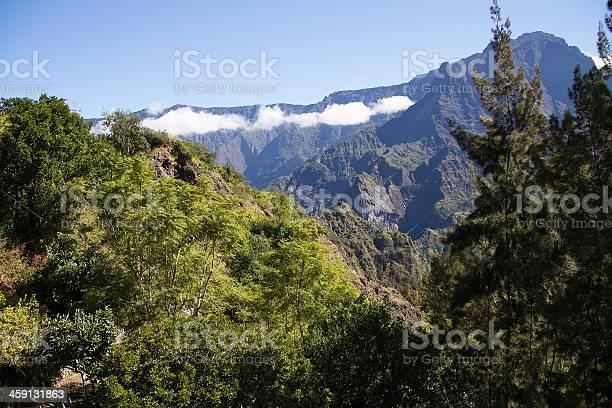 Reunion Island Cilaos Mountain Range Cloud Stock Photo - Download Image Now