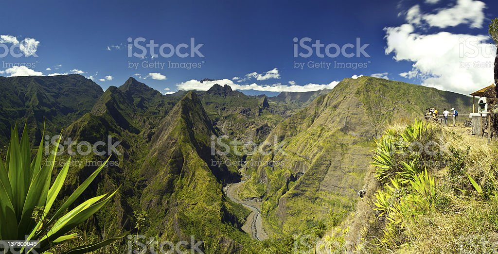 Reunion Island Park & Mountain stock photo