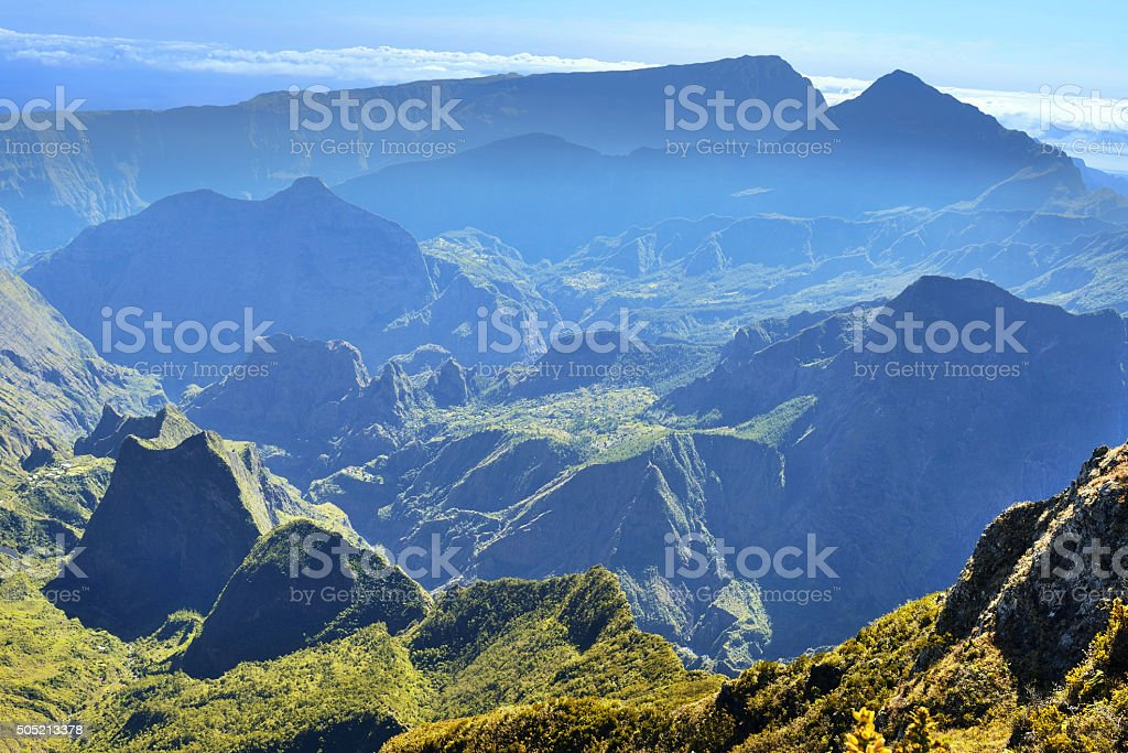 La Reunion - Le Maido stock photo