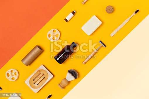 1169442288 istock photo Reusable accessories on color background. 1207499018