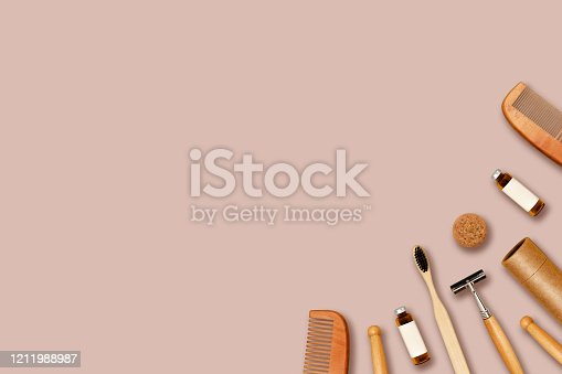 1169442288 istock photo Reusable accessories on color background. 1211988987