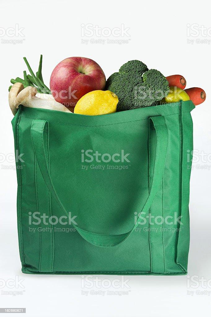 Reusable Eco Friendly Grocery Bag stock photo