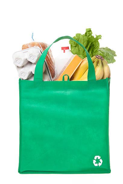 reusable grocery bag stock photo