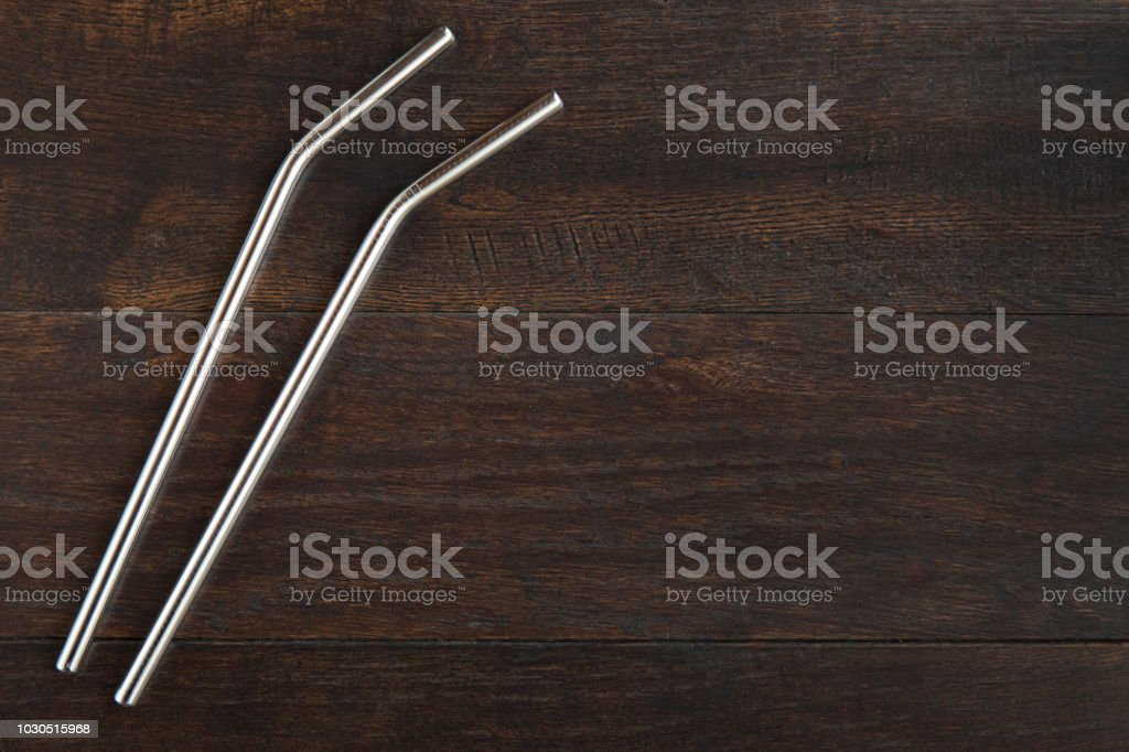 Wiederverwendbare Metall trinken Strohhalme – Foto