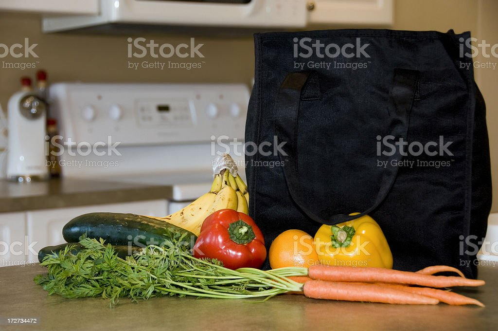 Reusable Shopping Bag royalty-free stock photo