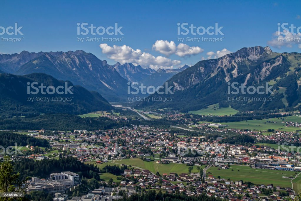 Reutte in Tyrol stock photo