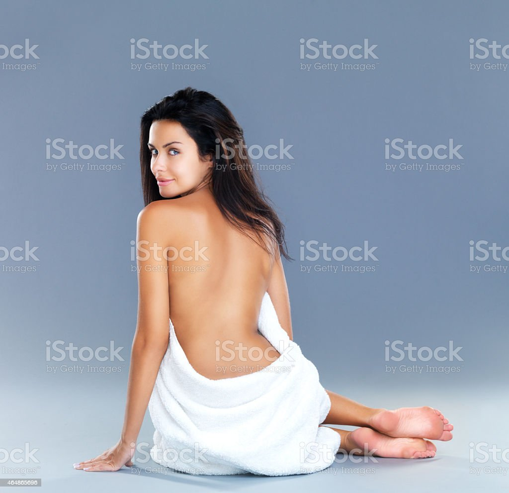 Revealing her curves stock photo
