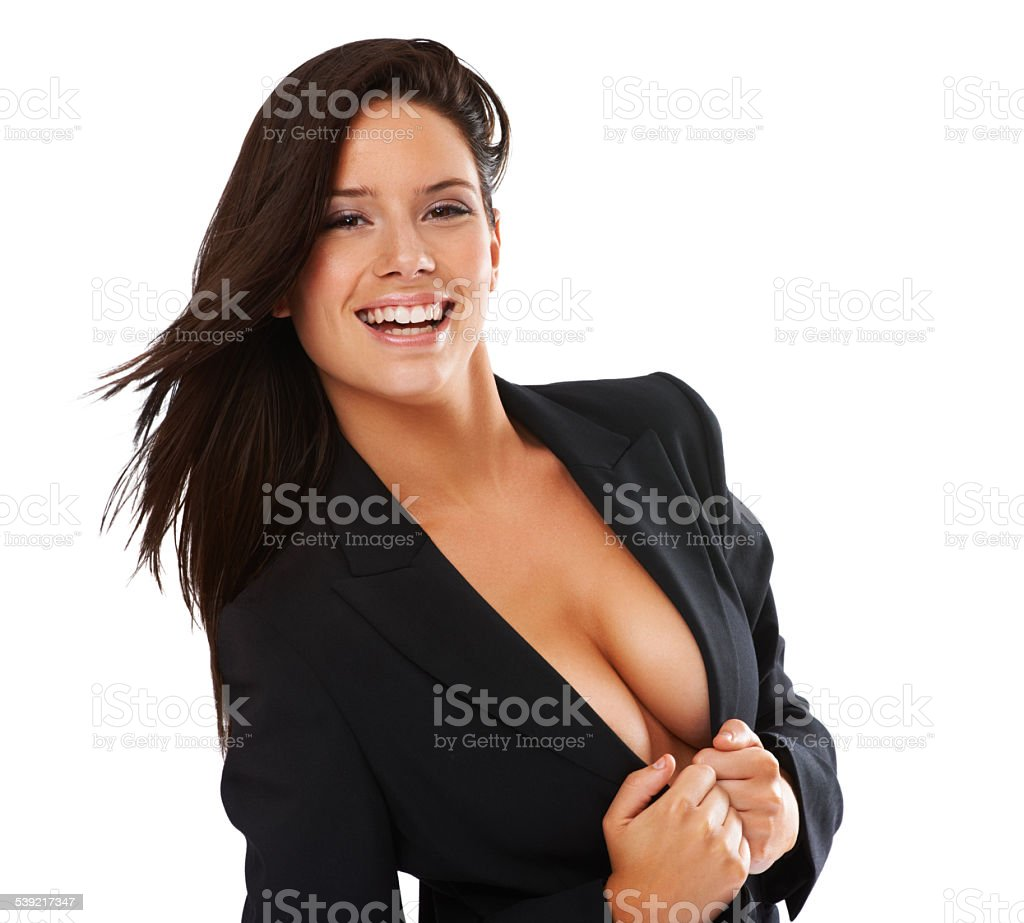 Revealing just enough.... stock photo