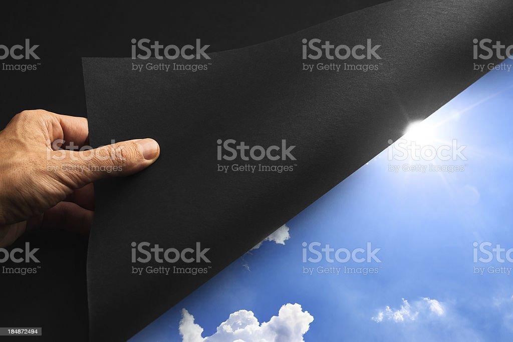 Revealing The Sky royalty-free stock photo