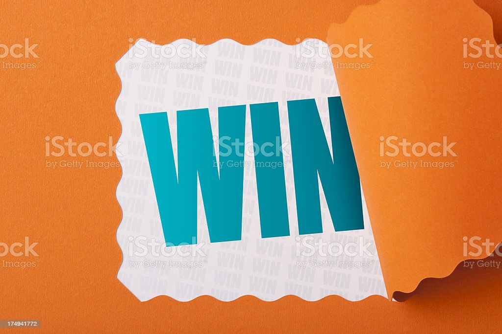 Revealing the word WIN stock photo